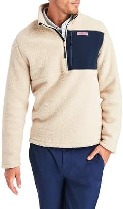 Vineyard Vines Stretch Fleece Half Zip Pullover