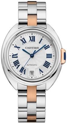 Cartier Cle de 18K Rose Gold & Stainless Steel Bracelet Watch/35MM