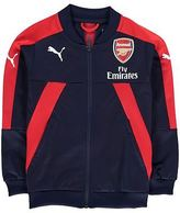 Puma Kids Arsenal Stadium Jacket Coat Top Football Junior Boys Stripe Full Zip