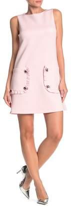 Betsey Johnson Pocket Techno Knit Mini Dress