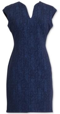 Connected Petite Cap-Sleeve Sparkle Dress