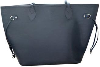 Louis Vuitton Neverfull Navy Leather Handbags