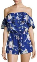 Yumi Kim Floral-Print Off-The-Shoulder Romper