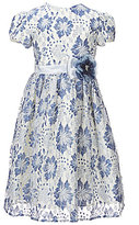 Jayne Copeland Big Girls 7-12 Floral-Lace-Overlay A-Line Dress