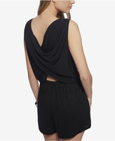 Jessica Simpson Draped-Back Surplice Romper