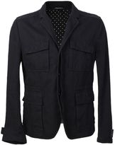 Dolce & Gabbana Black Mixed Cotton Gabardine Jacket