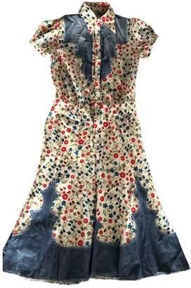 DSQUARED2 Ecru Cotton Dresses
