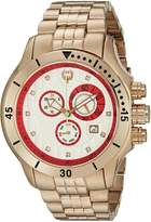 Brillier Men's 13-06 Fortress Diamond Swiss 47mm Chronograph Day and Date Function Watch