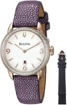 Bulova Women' 98R196 Analog Diplay Quartz Purple Watch