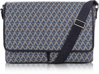 Ikon Lancaster Paris Blue Coated Canvas Men's Messenger Bag