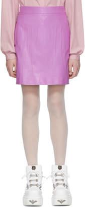 Gucci Purple Leather Miniskirt