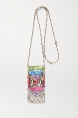 Paco Rabanne Degrade Silver-tone Chainmail Necklace