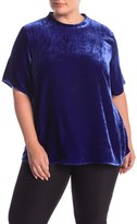 Eileen Fisher Mock Neck Velvet Top (Plus Size)