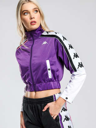 Kappa 222 Banda 10 Antey Track Jacket in Violet White Black