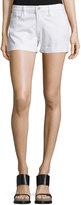 Frame Le Cutoff Rolled-Hem Shorts, Blanc