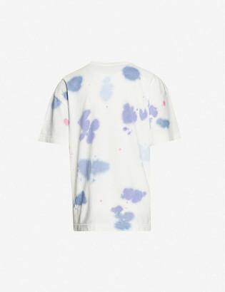 Palm Angels Logo-print tie-dye cotton-jersey T-shirt