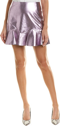 Rebecca Taylor Metallic Leather Skirt