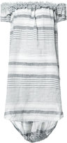 Malia Mills striped beach dress - women - Cotton/Linen/Flax/Acrylic/Viscose - XS