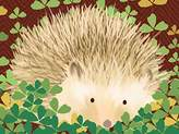 Oopsy Daisy Fine Art For Kids Henry The Hedgehog by Meghann O'Hara Canvas Wall Art, 14 by 10-Inch