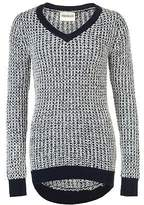 Soul Cal SoulCal Womens V Neck Long Knitted Jumper Sweater Pullover Sleeve