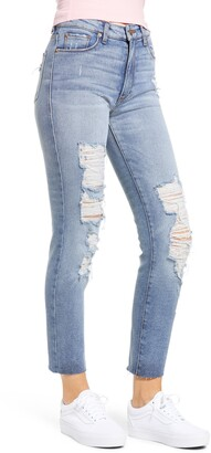 STS Blue Caroline Ripped High Waist Straight Leg Jeans