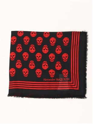 Alexander McQueen All Over Skull Scarf