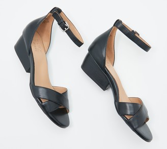 Naturalizer Leather Ankle Strap Heeled Sandal - Caine
