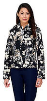 Isaac Mizrahi Live! Allover Watercolor Floral Jacket