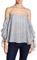 Do & Be Do + Be Striped Off-the-Shoulder Blouse