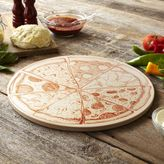 """Sur La Table Round Glazed Printed Cordierite Pizza Stone, 161⁄2"""""""