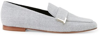 Lafayette 148 New York Eve Square-Toe Cashmere Loafers