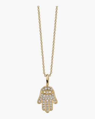 Sydney Evan Mini Hamsa Charm Necklace