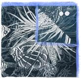 Odeeh sealife print scarf - women - Silk - One Size