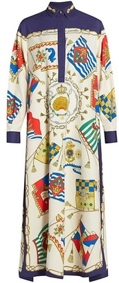 Etro Ponza Parade Flag-Print Cotton Dress