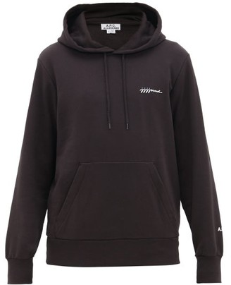 A.P.C. Jjjjound X Jjjjound X X Jjjjound Embroidered Cotton Hooded Sweatshirt - Mens - Black