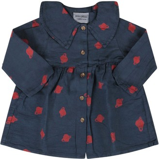 Bobo Choses Blue Baby Girl Dress With Saturn