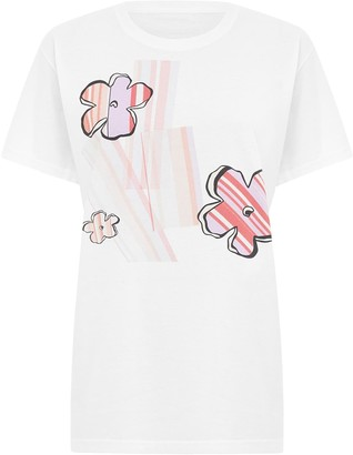 Sabinna Striped Flowers T-Shirt