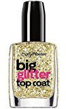 Sally Hansen Treatment Big Glitter Top Coat Nail Color, Gold-Flecks, 0.4 Fluid Ounce