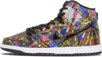 Nike Dunk HI Pro SB 'Concepts Stained Glass' Shoes - Size 9.5