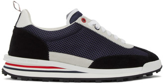 Thom Browne Navy Tech Runner Sneakers