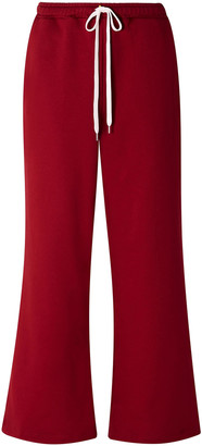 Marni French Cotton-terry Wide-leg Track Pants
