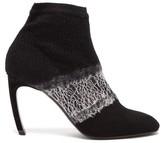 Nicholas Kirkwood Kim Deconstructed Wool Ankle Boots - Womens - Black