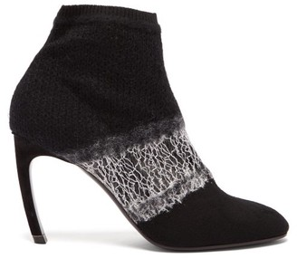 Nicholas Kirkwood Kim Deconstructed Wool Ankle Boots - Womens - Black