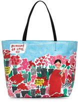 Kate Spade Be Mine Hallie Rose Market Tote Bag, Multicolor