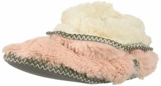 Dearfoams Women's faux fur Foldown Boot Slipper Dusty Pink S Regular US
