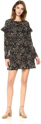 Lucca Couture Women's Ariana Ruffle Drop Waist Floral Print Dress