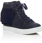 Steve Madden Girls' Fringe High Top Sneakers - Little Kid, Big Kid