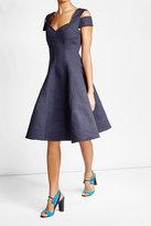 Paule Ka Cotton Dress with Cut-Out Shoulders