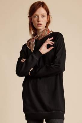 Velvet by Graham & Spencer Velvet By Graham Spencer Rosalie Vintage Fleece Raglan Tunic Sweatshirt