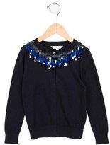 Little Marc Jacobs Girls' Embellished Cardigan